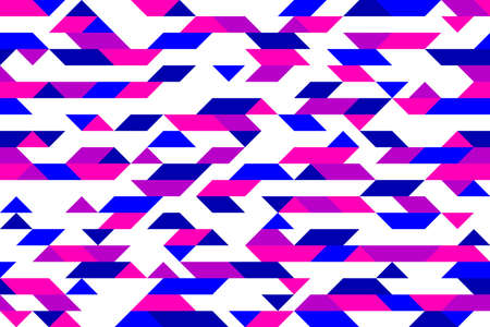 Chaotic abstract mosaic vector seamless background, geometric tiling pattern, interior design element or wallpaper, wrapping paper or web design. Vektorgrafik