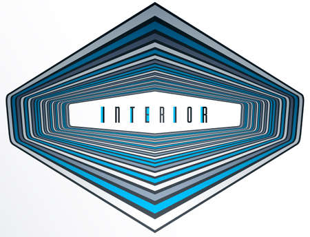 Abstract 3D trendy modern lines in perspective vector background, dimensional design cool element, funky style layout for ads posters banners and covers, perfect abstraction.