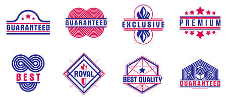 Premium best quality vector emblems set, badges  collection for different products and business, classic graphic design elements, insignias and awards.