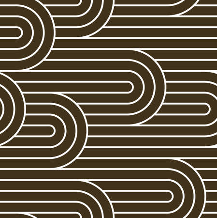 Seamless pattern with twisted lines, vector linear tiling background, stripy weaving, optical maze, twisted stripes. Illustration