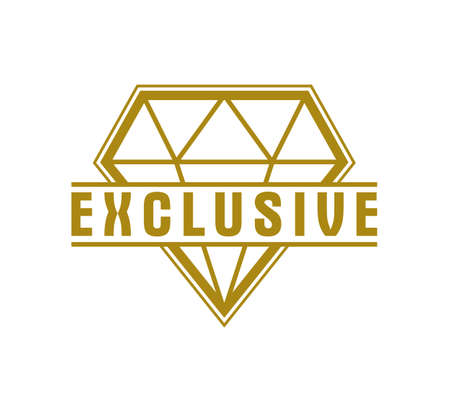 Vector premium exclusive label isolated on white background, product  or badge best price, vintage style genuine badge, guarantee symbol.