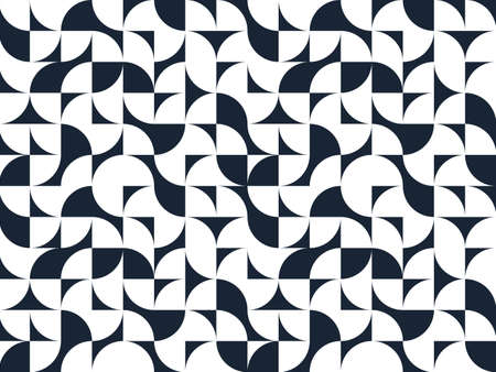 Seamless geometric pattern, abstract vector background for wallpaper or websites or wrapping paper print created with black and white elements of geometry.