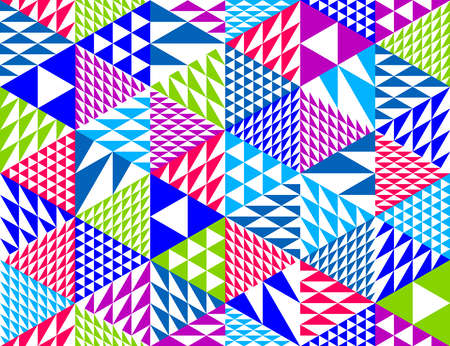 Geometric 3D seamless pattern with cubes, rhombus and triangles boxes blocks vector background, architecture and construction, wallpaper design.