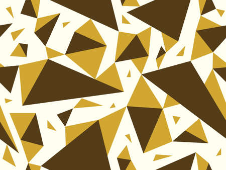 Triangles seamless background, messy chaotic vector pattern, particles design pattern for wallpaper or print or textile or wrapping paper.