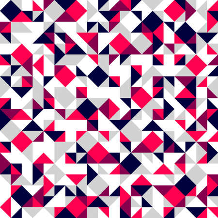 Geometric mosaic vector seamless pattern, chaotic abstract background for wallpapers, wrapping paper or website backgrounds. Vektorgrafik