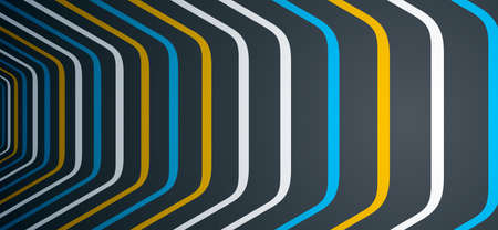 Minimal design of abstract lines in 3D perspective vector abstract background, minimalistic cool trendy retro template for covers posters and banners.