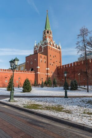 Trinity tower of the Kremlin in Moscow