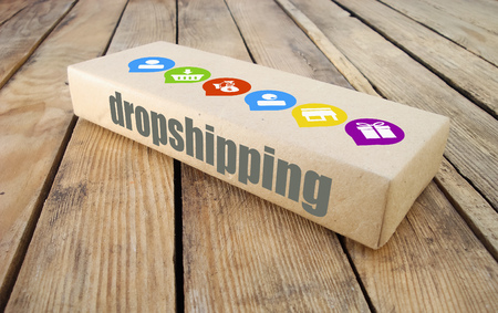 How Dropshipping Works. Banque d'images