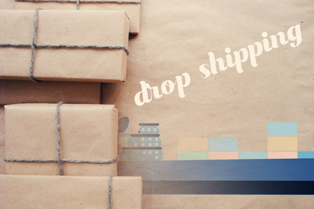 How Dropshipping Works . Stock Photo