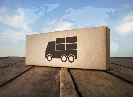 Dropshipping. How its works? Direckt delivery. Banque d'images