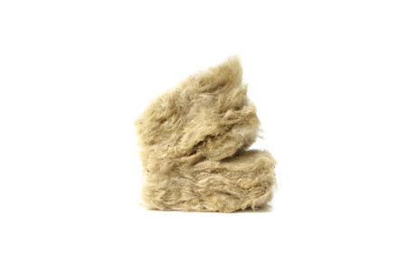 Mineral wool for insulation.