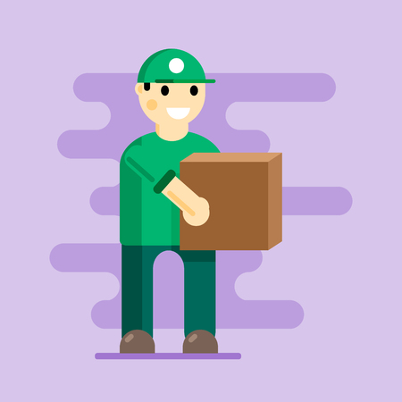 Dropshipping a vector icons. Shipping a Service. Illustration