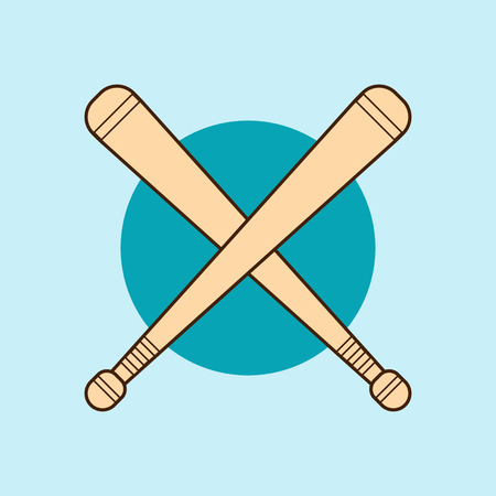 Bludgeon wooden or rubber in flat design