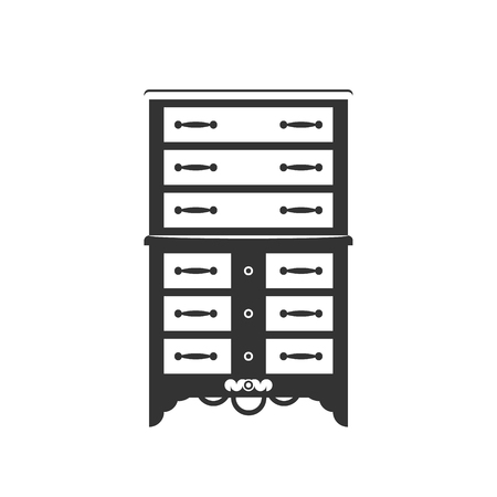highboy: Highboy flat vector design. It is executed in the old and modern style. Illustration
