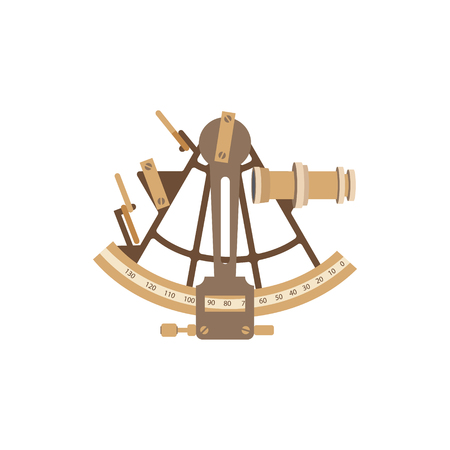 Old ship illustration in a flat style. Ilustracja