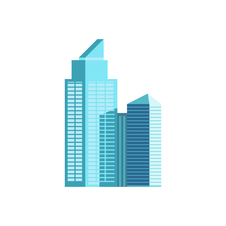 Skyper icon. Buildng in downtown. Modern architecture element. High business centre