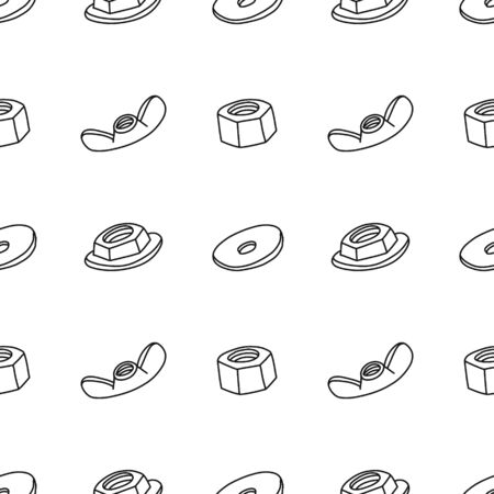 Informational poster seamless pattern nuts sketch.