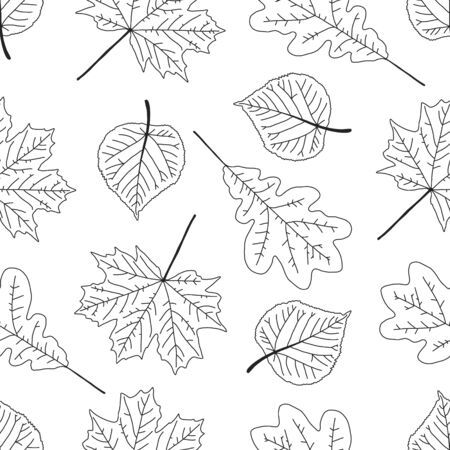 Advertising poster seamless pattern with foliage. Иллюстрация