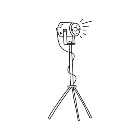 Bright poster hand-drawn video light, cartoon.
