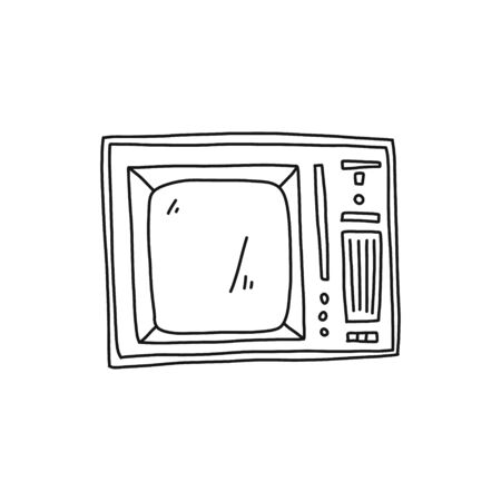 Informational poster television receiver sketch.