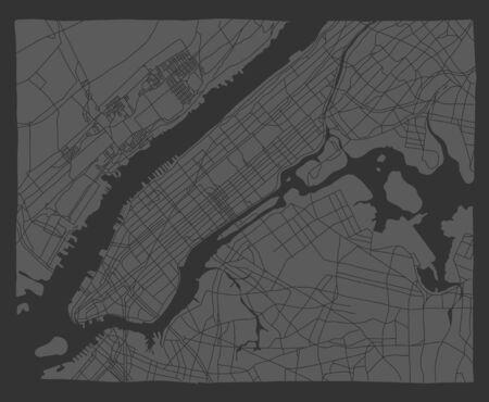 informative flyer manhattan maps new york map.