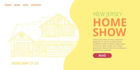 Banner written new jersey home show landing page.