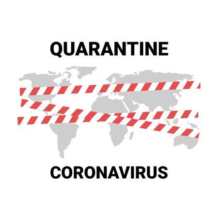 Coronavirus world map quarantined countries closed