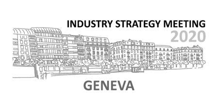 Industry strategy meeting 2020 Geneva switzerland. Vectores