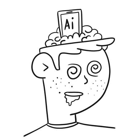 Man under the influence of ai, flat