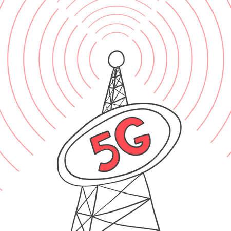 Telecommunications tower Internet broadcasts 5G