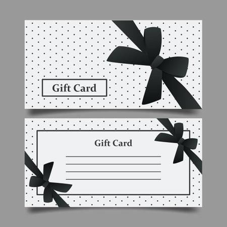 Stylish minimalistic gift voucher, vector illustration.
