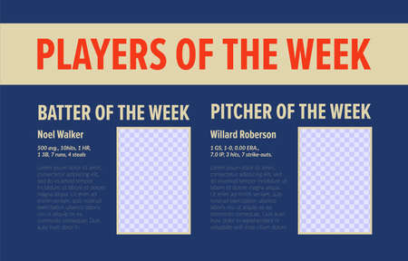 Best baseball player, week rating design, vector illustration. Vector Illustratie