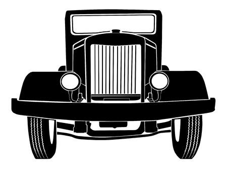 silhouette voiture: Vieille voiture