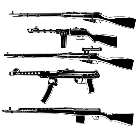 automatic: Soviet guns  Illustration