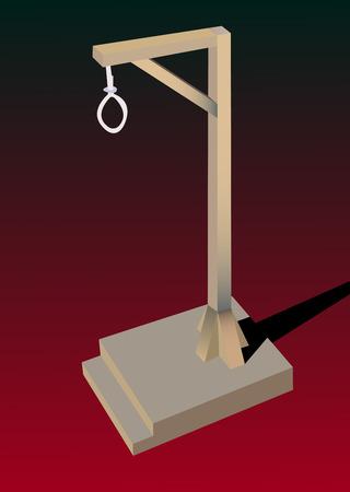 gallows  Stock Vector - 6844240