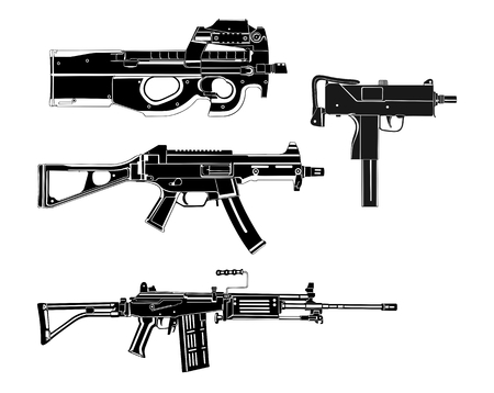 old rifle: Modern guns  Illustration