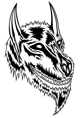 fighting dog: Wolf con poca fantasia e stile  Vettoriali