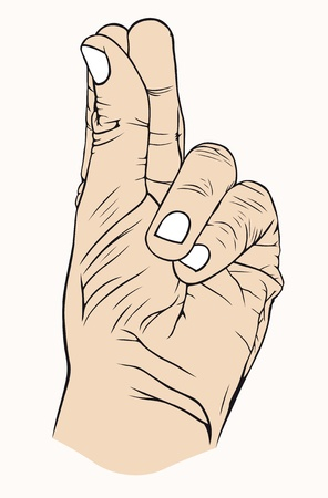 hardness: Hand with symbolic, good, money, corruption,