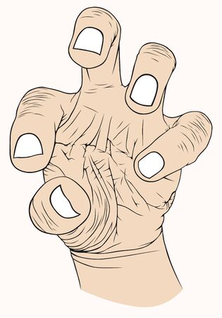 hardness: Hand with symbolic, pain, strength, aggression