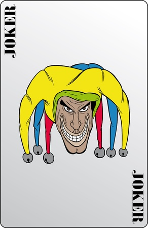 heart suite: The Joker playing card in the vector