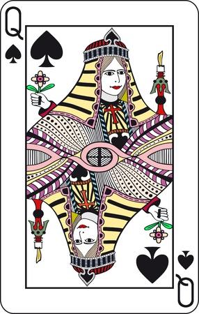 joker naipe: Reina de espadas, jugar a las cartas de poker