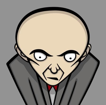 hombre pobre: Ilustración Boss, personaje divertido