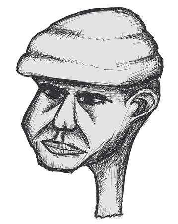 Hand drawn cartoon, in the vector Vector