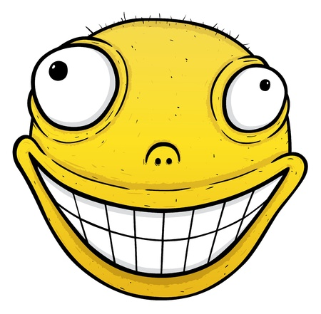 Orange crazy smile, smile for energy drink or for others, vector illustration Illustration