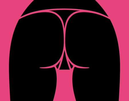 Sexy woman ass, vector illustration