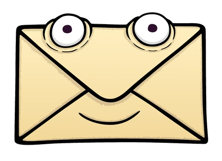 chatbox: Letter with smile, vector illustration