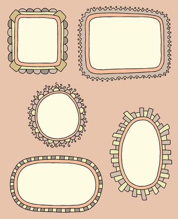 Hand drawn frames, vector illustration Stock Vector - 12044957