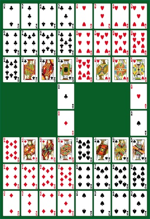 playing card: Full deck, all in one set, in th vector