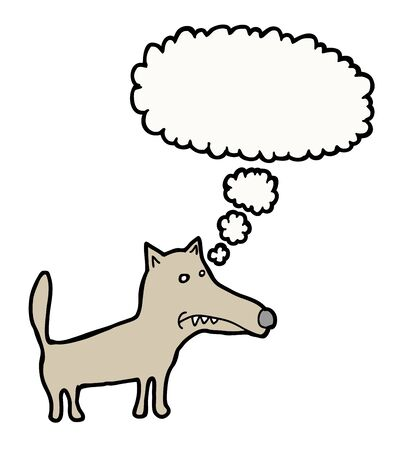 Hand drawn thinking dog, with bubble Stock Vector - 15278732