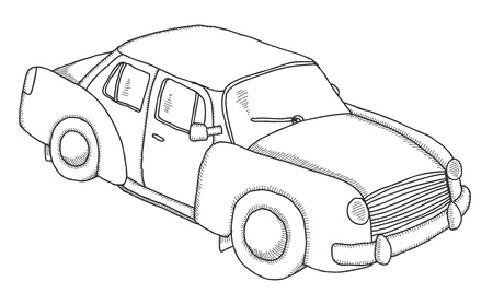 Hand drawn car  Vector